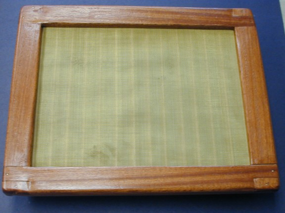 Mold and Deckle Top View, Tom Riley 2007
