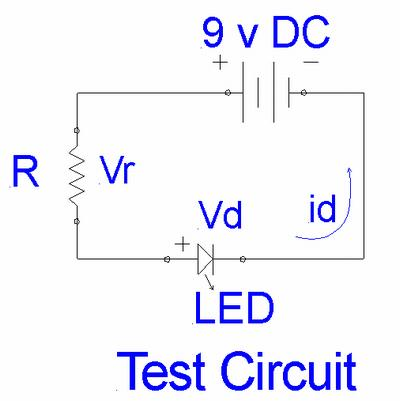 Basic LED test circuit