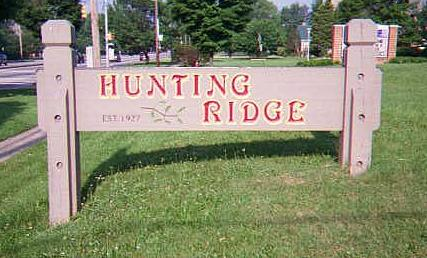Hunting Ridge Community sign