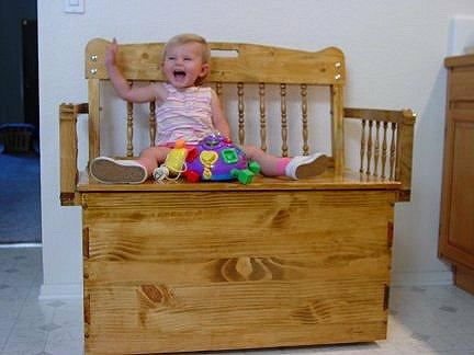 Child's Bench Toy Box Plans