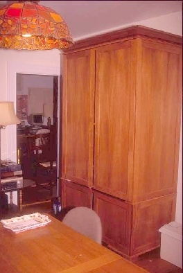 Tall Armoire Computer Desk Photo 1 ...