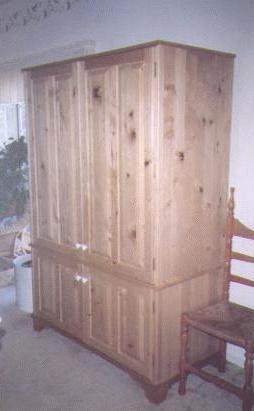 Woodware Pocket Door Armoire Computer Desk
