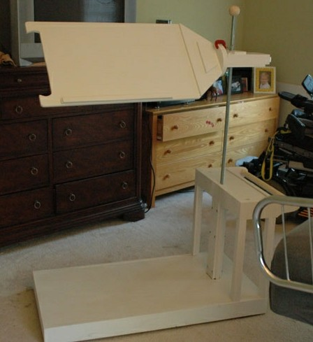 In-bed Computer Desk for use with stick